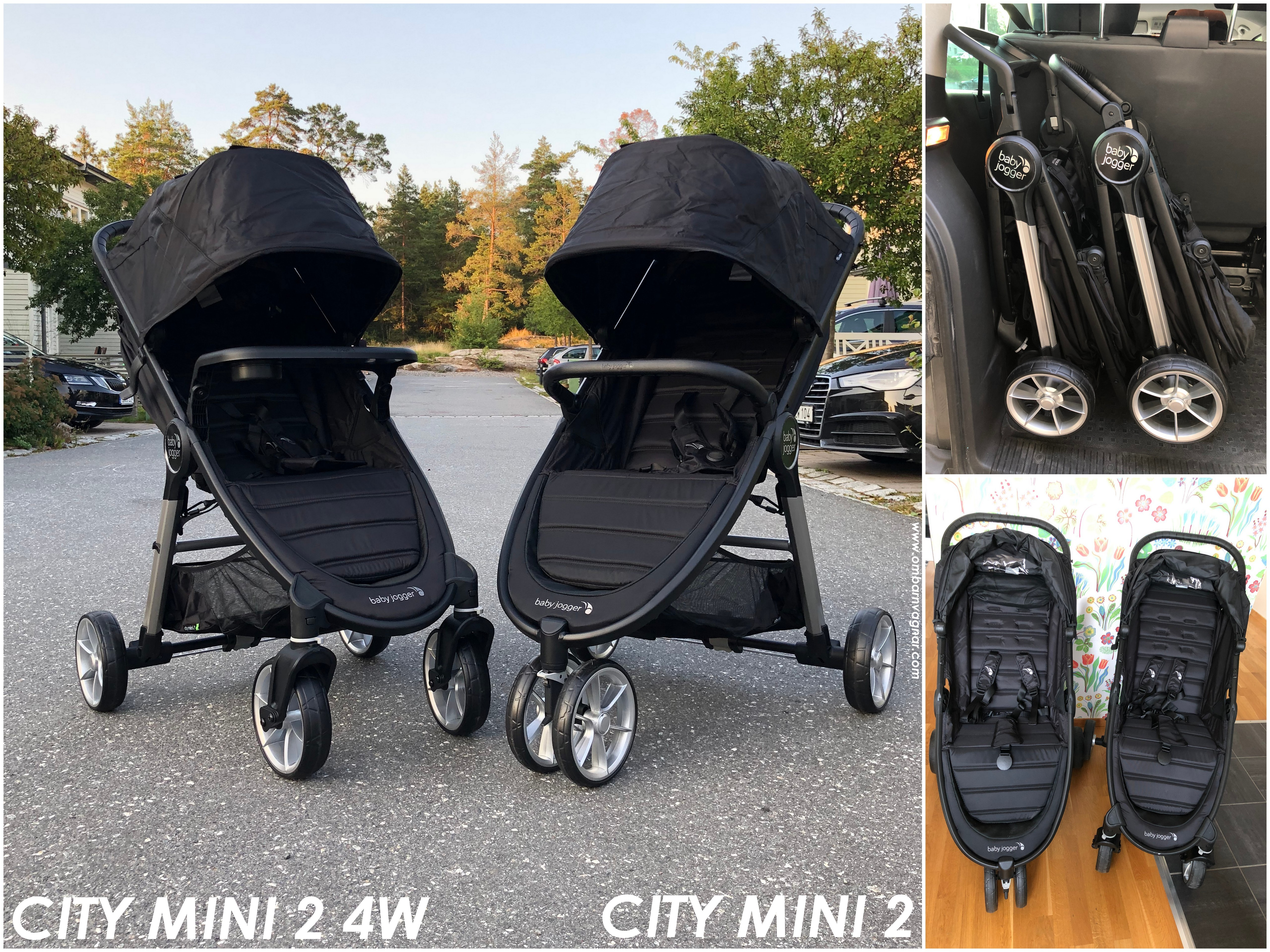 Vilken vagn ska man välja av Baby Jogger City Mini 2 4W eller City Mini 2 med tre hjul?