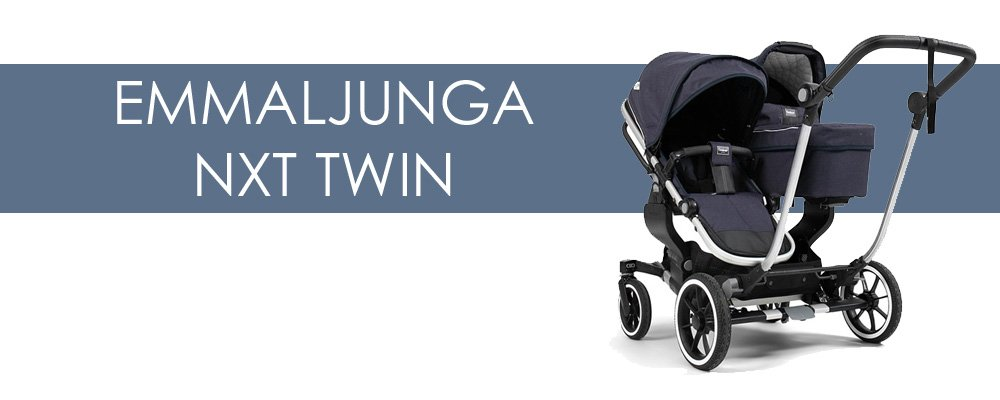 Emmaljunga NXT Twin syskonvagn för- och nackdelar