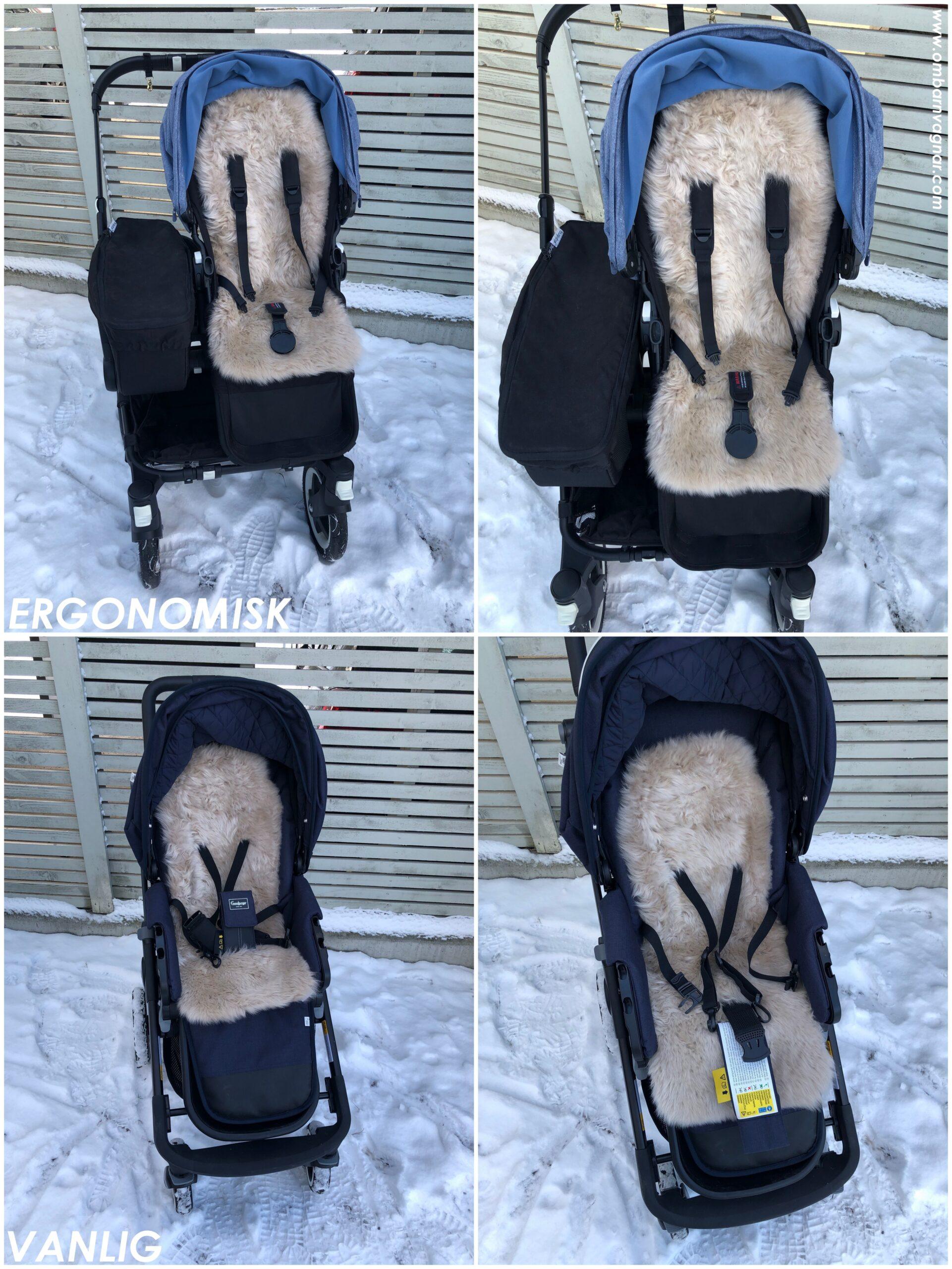 BOZZ Vagnsdyna Lammskinn Långhårig i ergonomisk sittdel och i vanlig sittdel