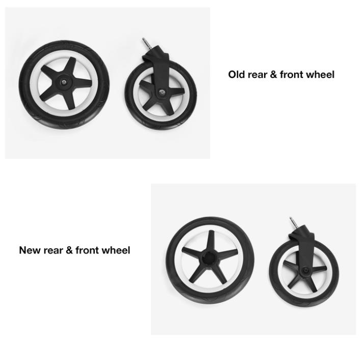 Nya hjulen till Bugaboo Donkey3