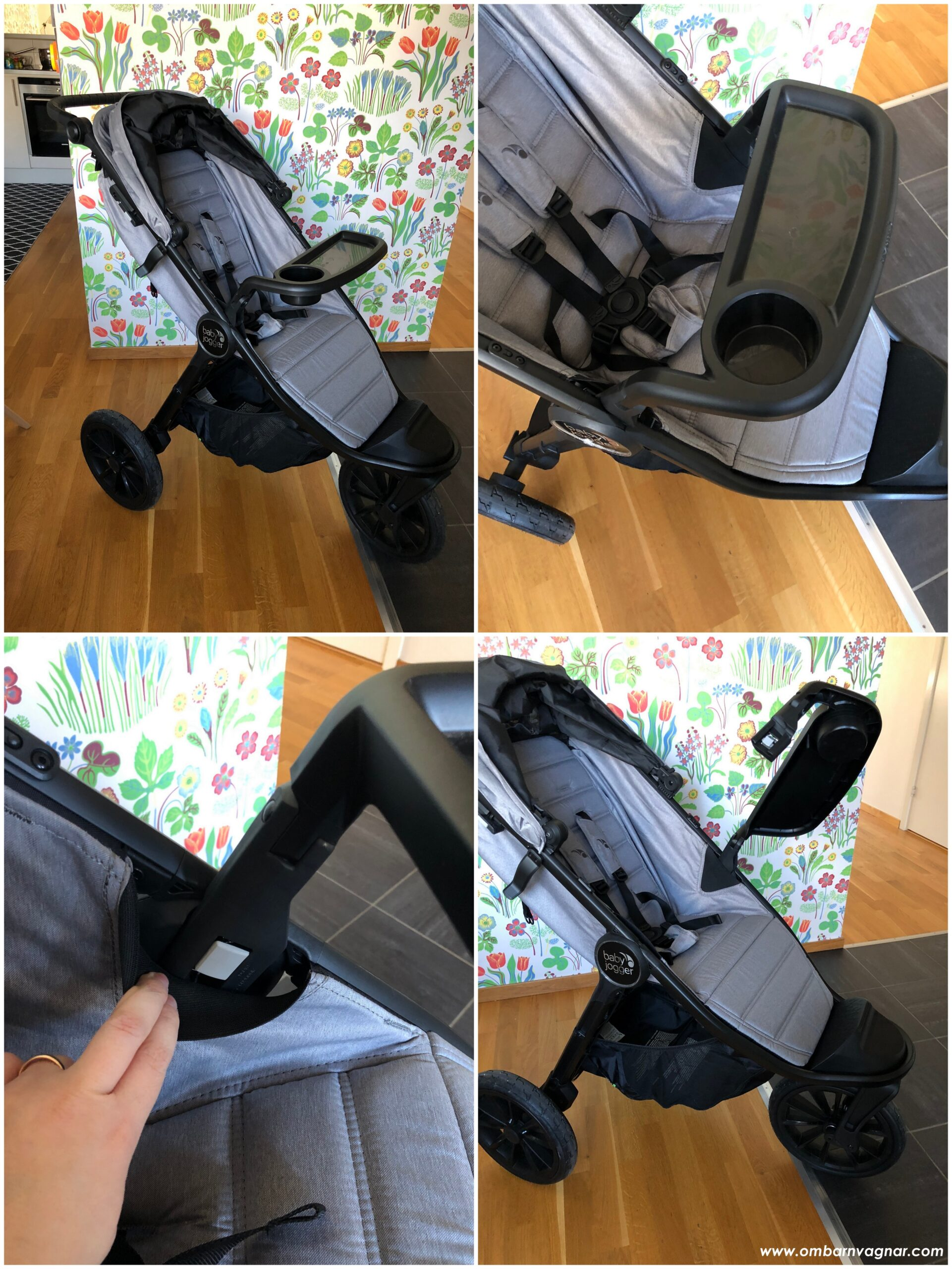 Baby Jogger City Elite 2 med snack tray som bygel