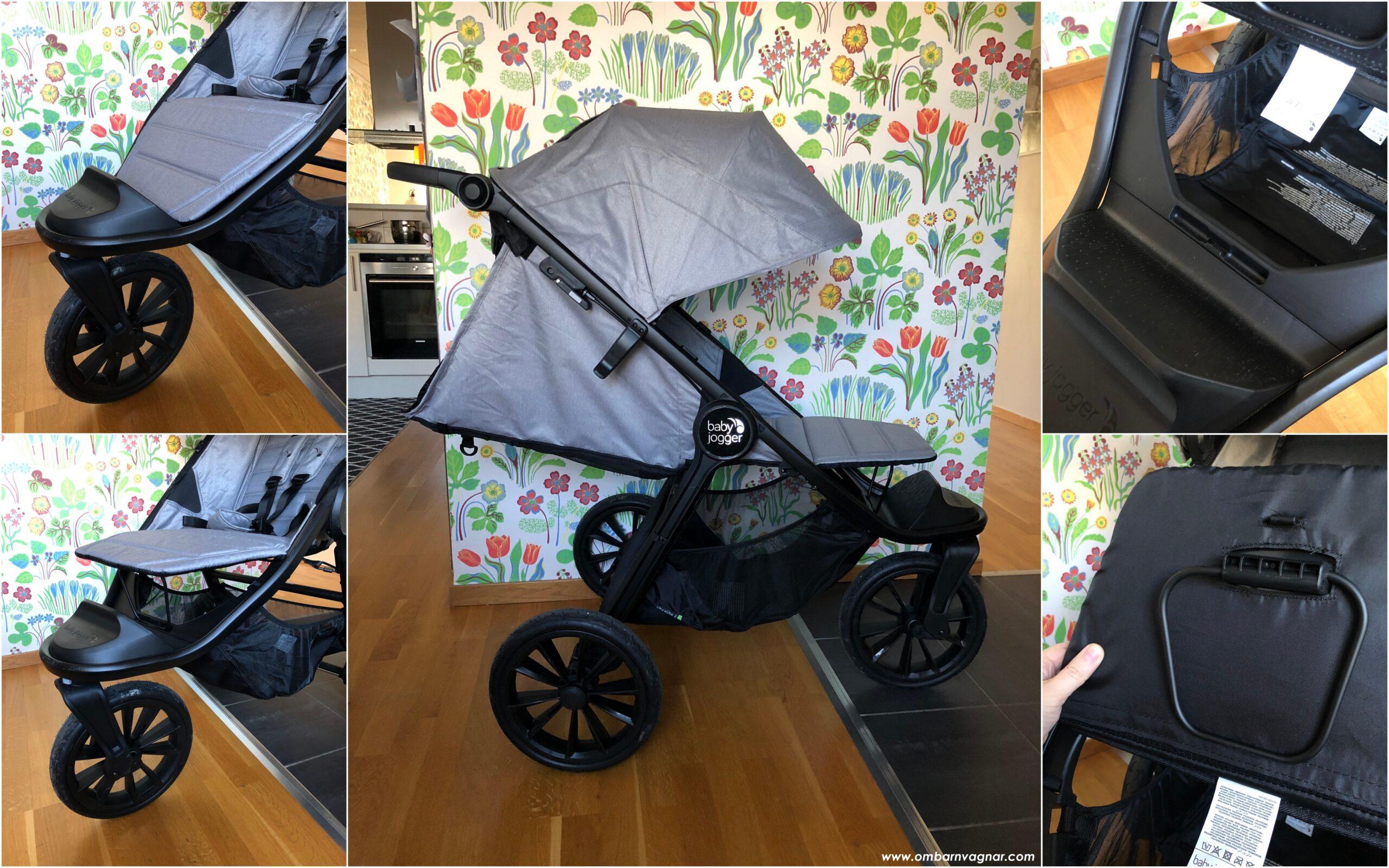 Baby Jogger City Elite 2 är utrustad med ett enkelt men funktionell ställbart fotstöd