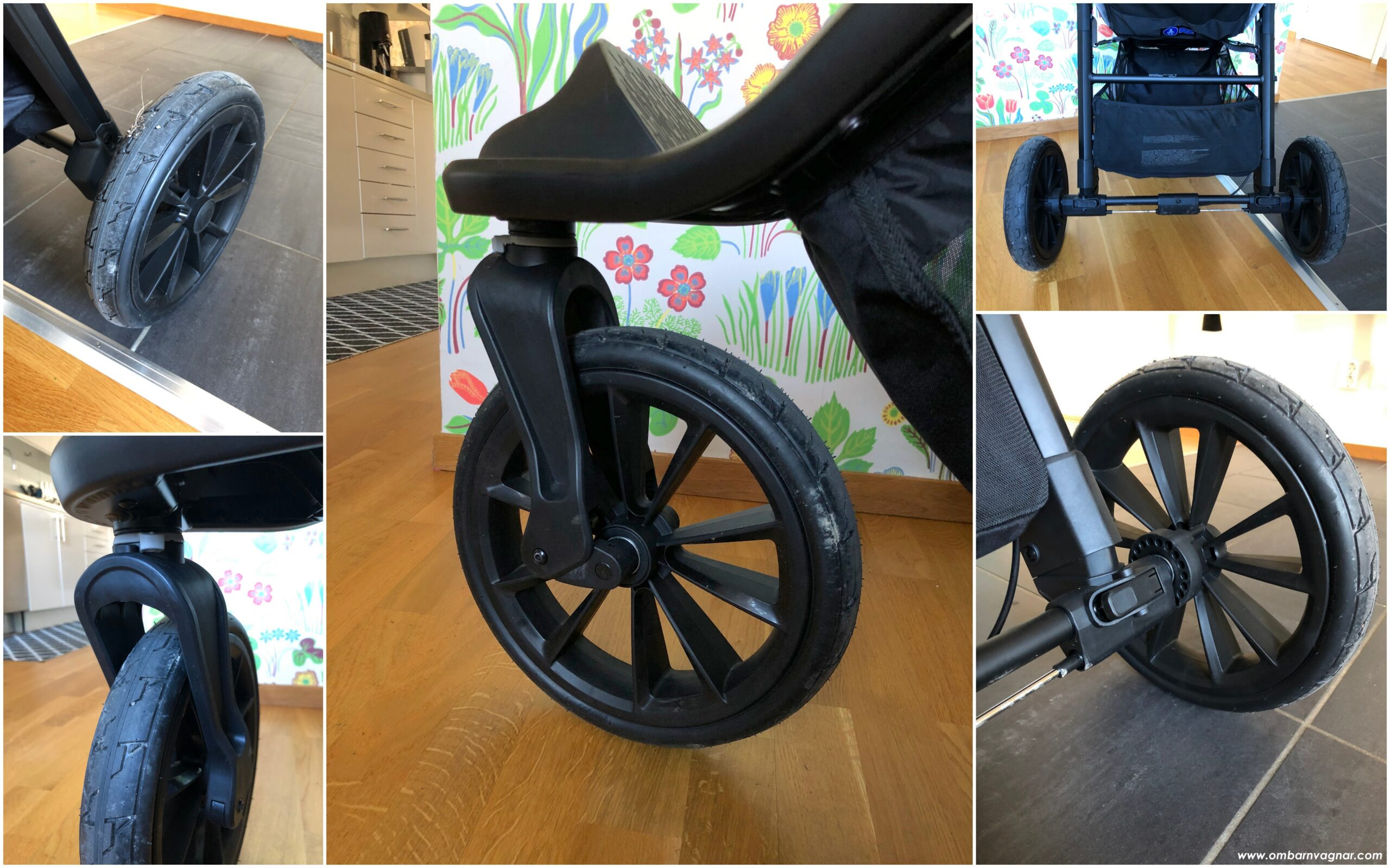 Baby Jogger City Elite 2 har stora, punkteringsfria hjul