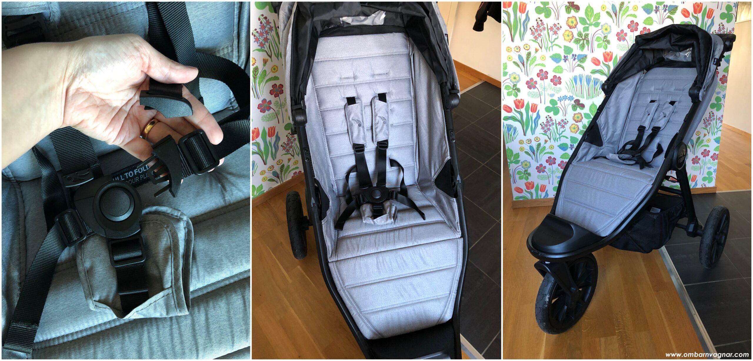 Baby Jogger City Elite 2 har en rymlig sittdel, med smart och delbar sele