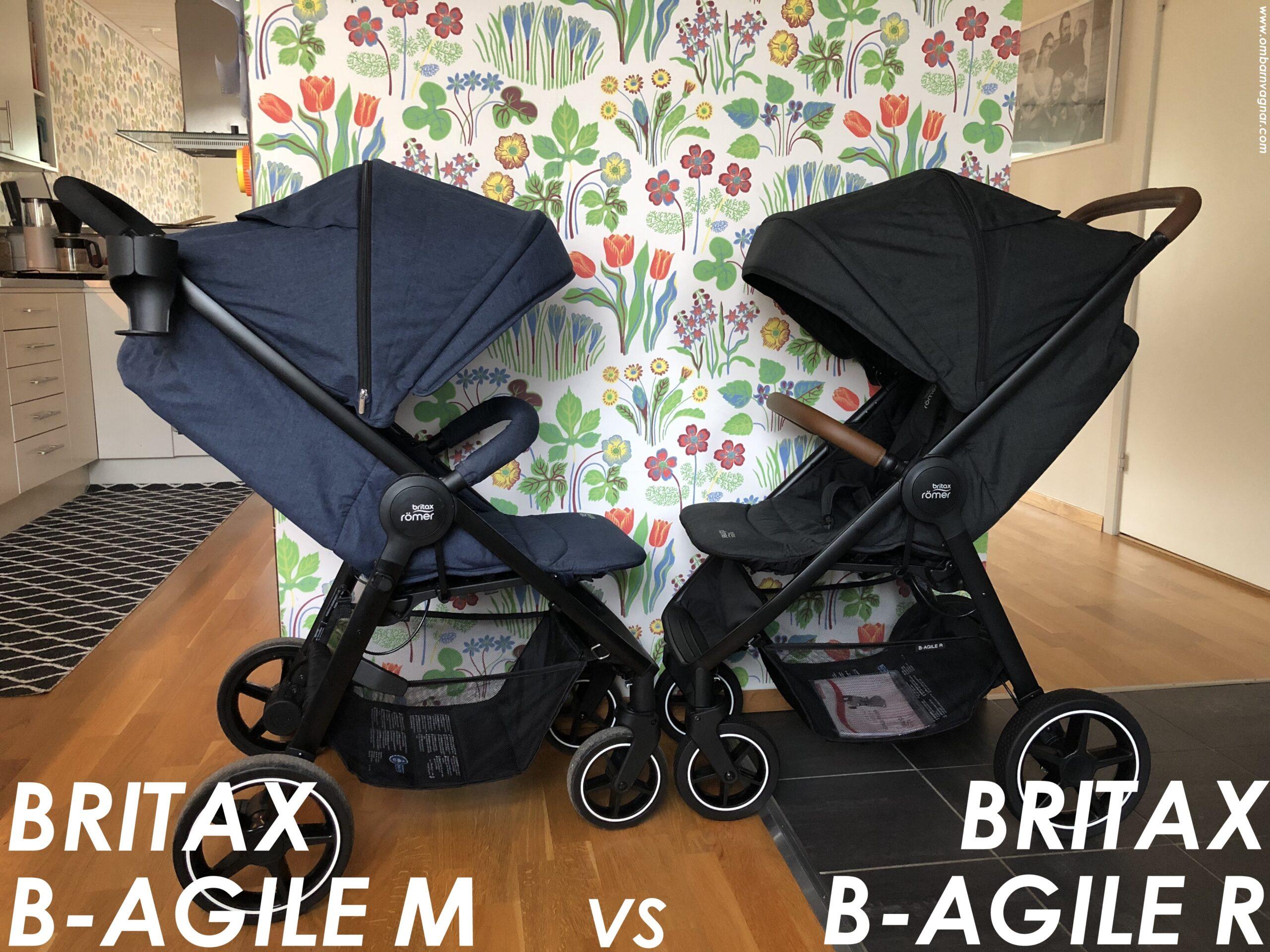 Vad är skillnaden mellan Britax B-Agile M och Britax B-Agile R?