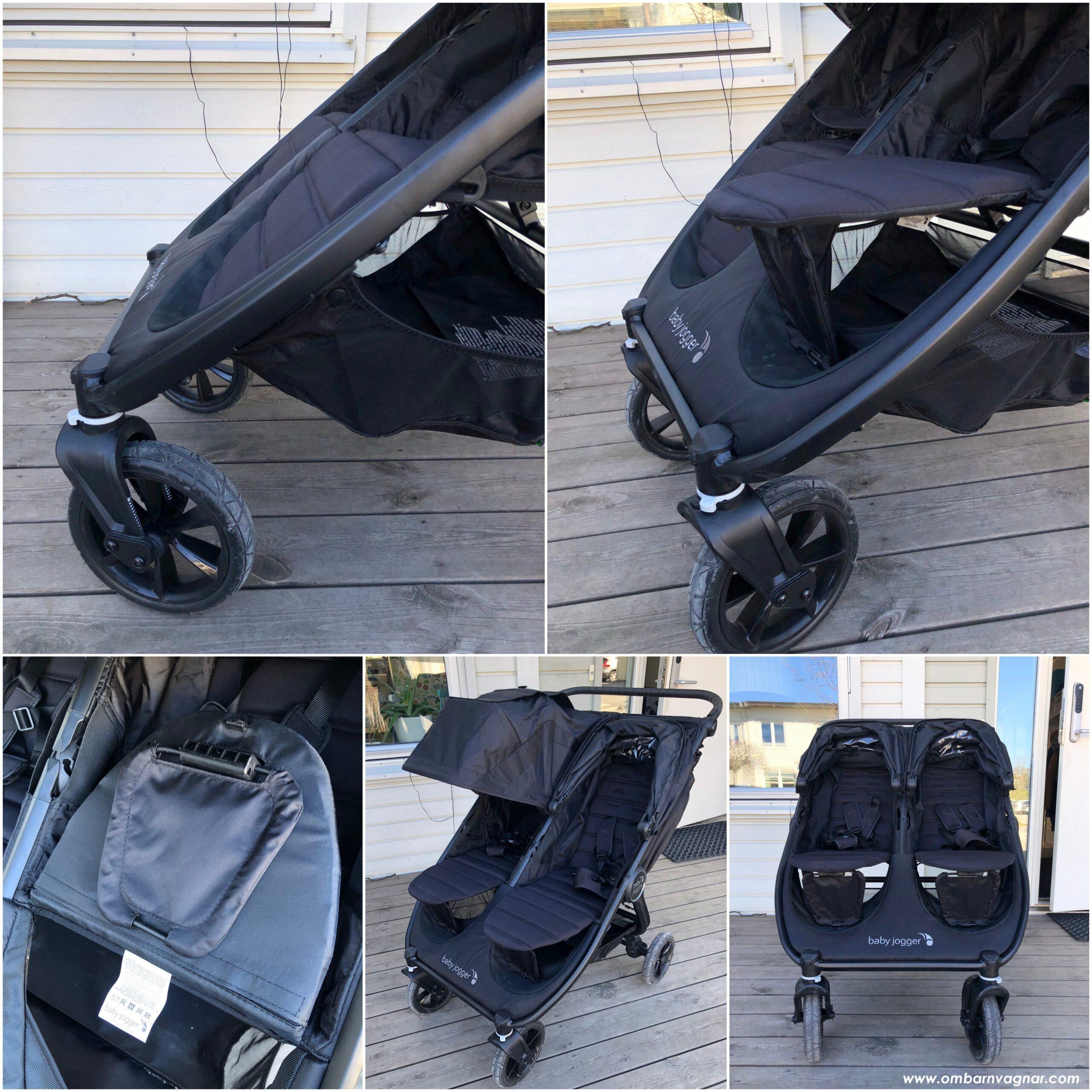 Baby Jogger City Mini GT 2 Double har ställbara fotstöd