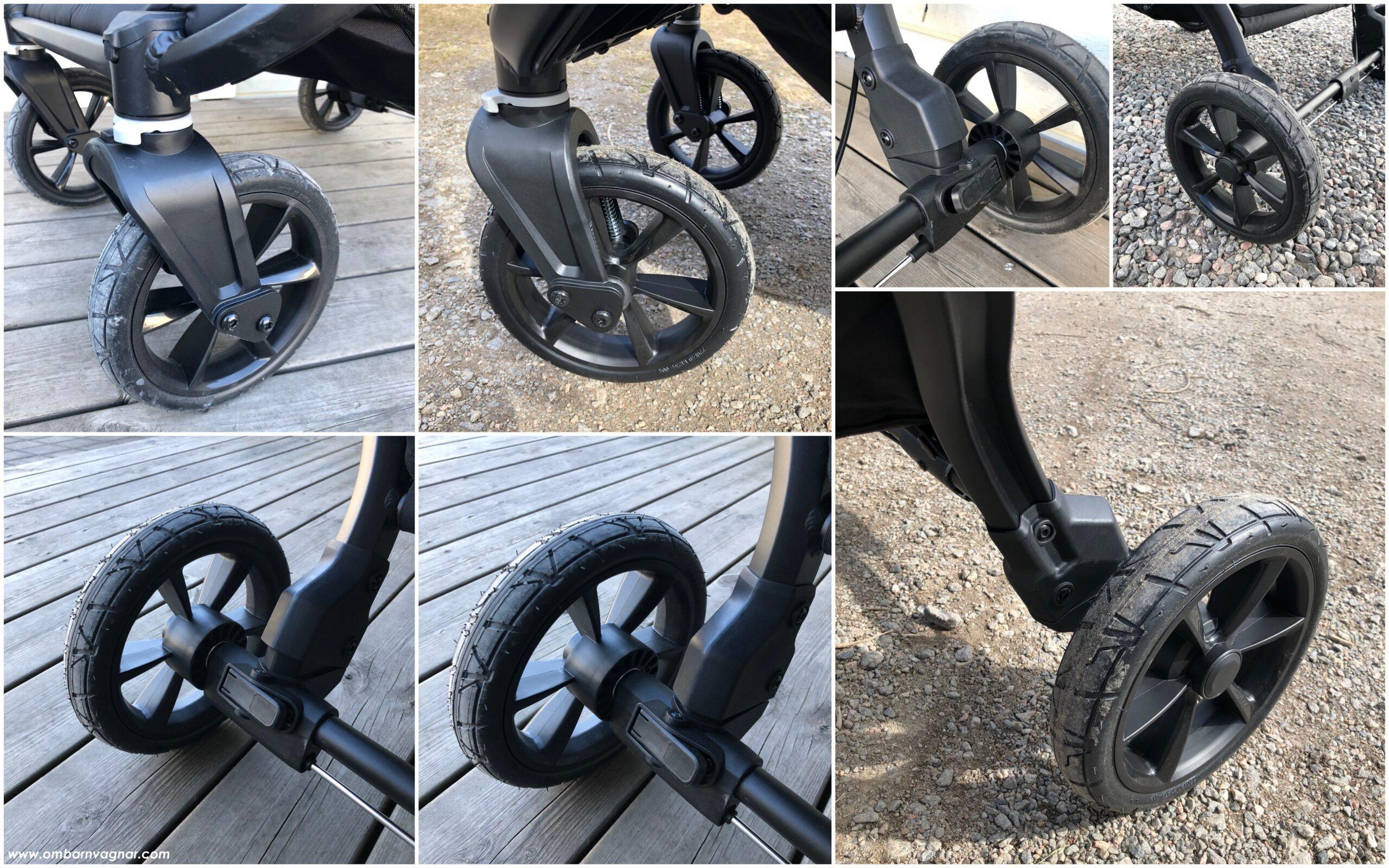 Baby Jogger City Mini GT 2 Double har punkteringsfria, skumfyllda hjul