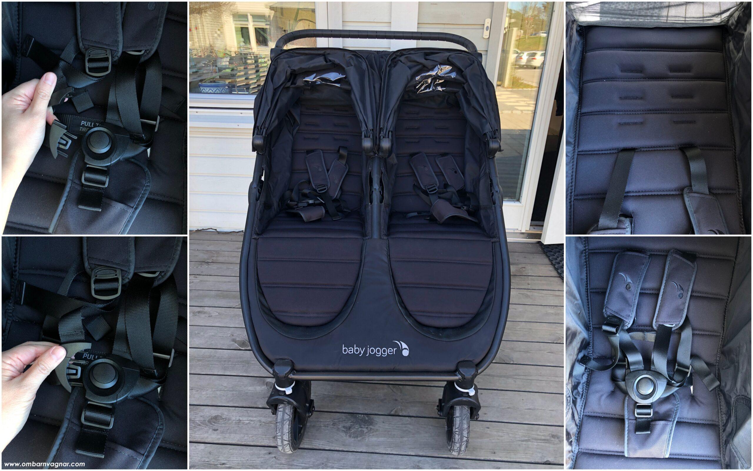 Baby Jogger City Mini GT 2 Double har vanliga sittdelar med delbar sele