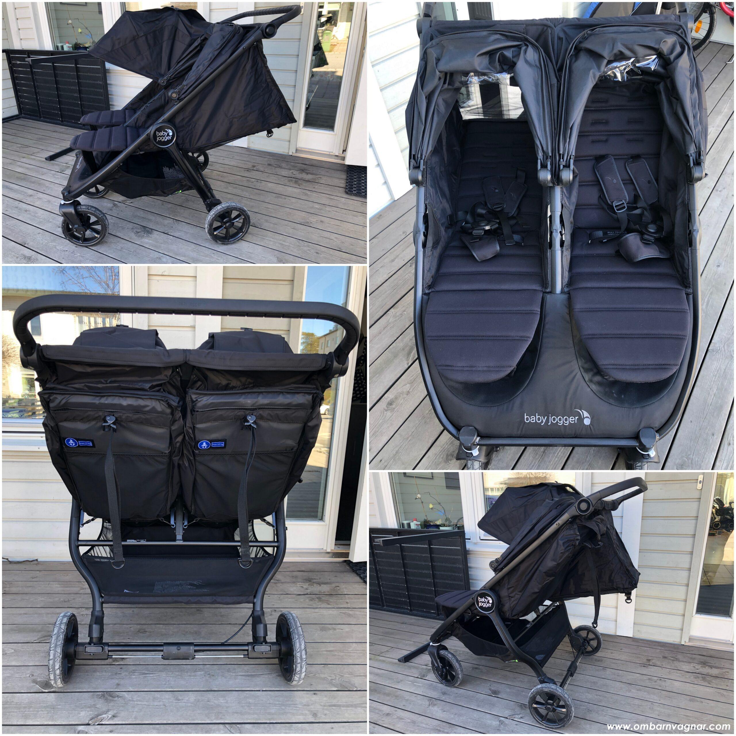Baby Jogger City Mini GT 2 Doubles ryggstöd kan fällas ned till liggläge