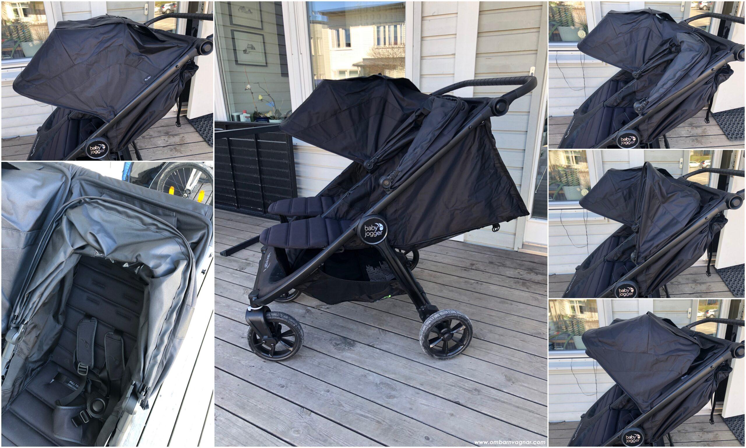 Baby Jogger City Mini GT 2 Double har suffletter som ger bra skugga