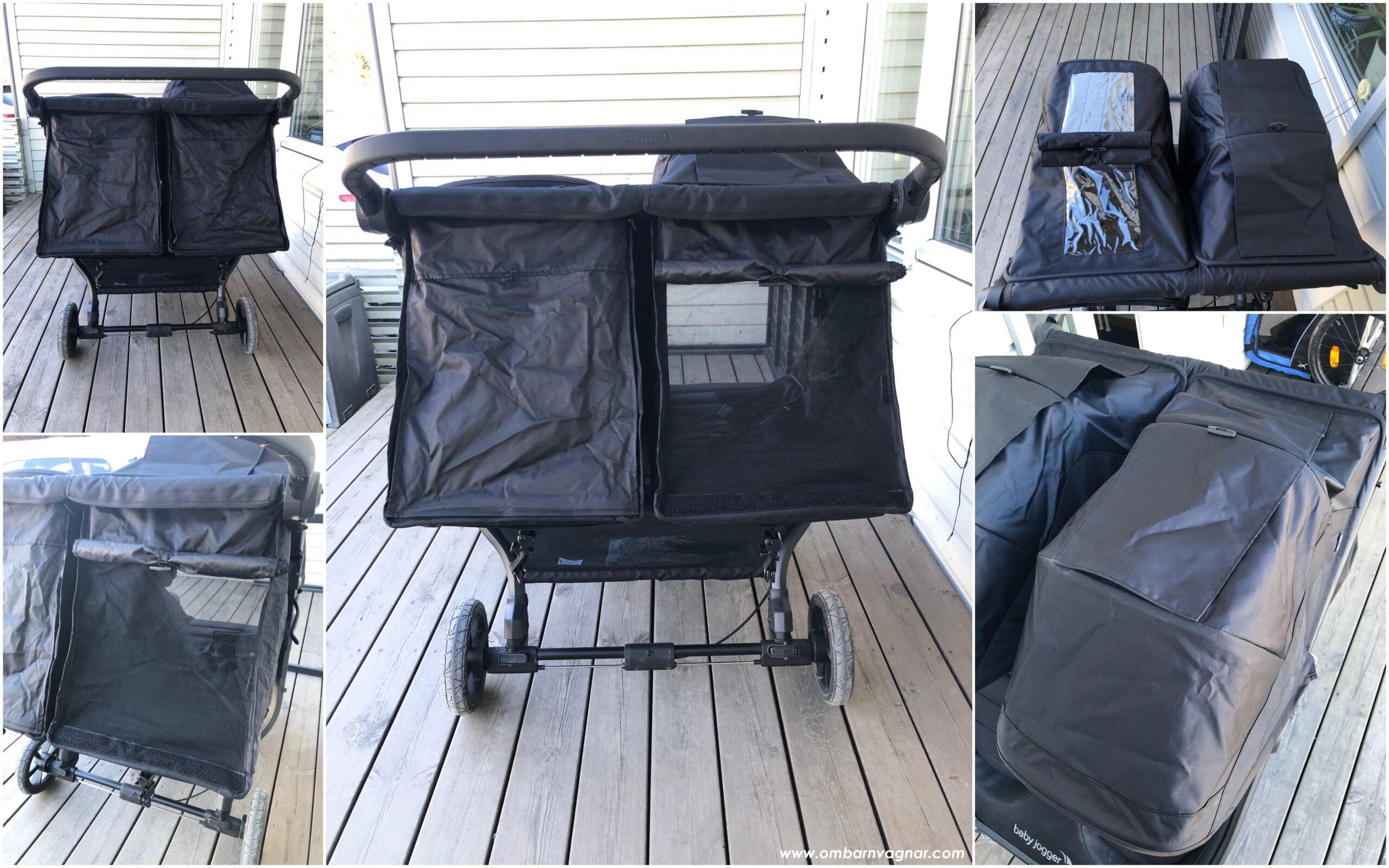 Baby Jogger City Mini GT 2 Double har tittlucka i suffletten och vädring i sittdelen