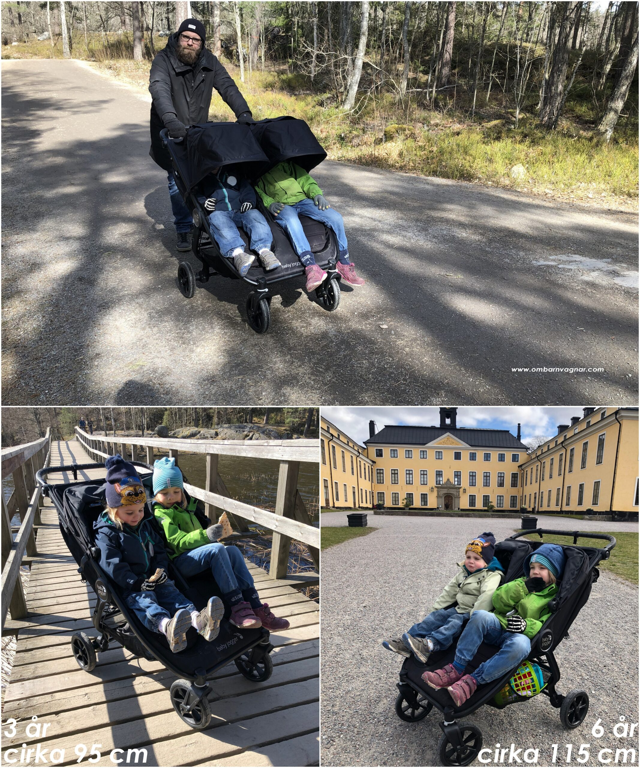 Så stora barn ryms i Baby Jogger City Mini GT 2 Double