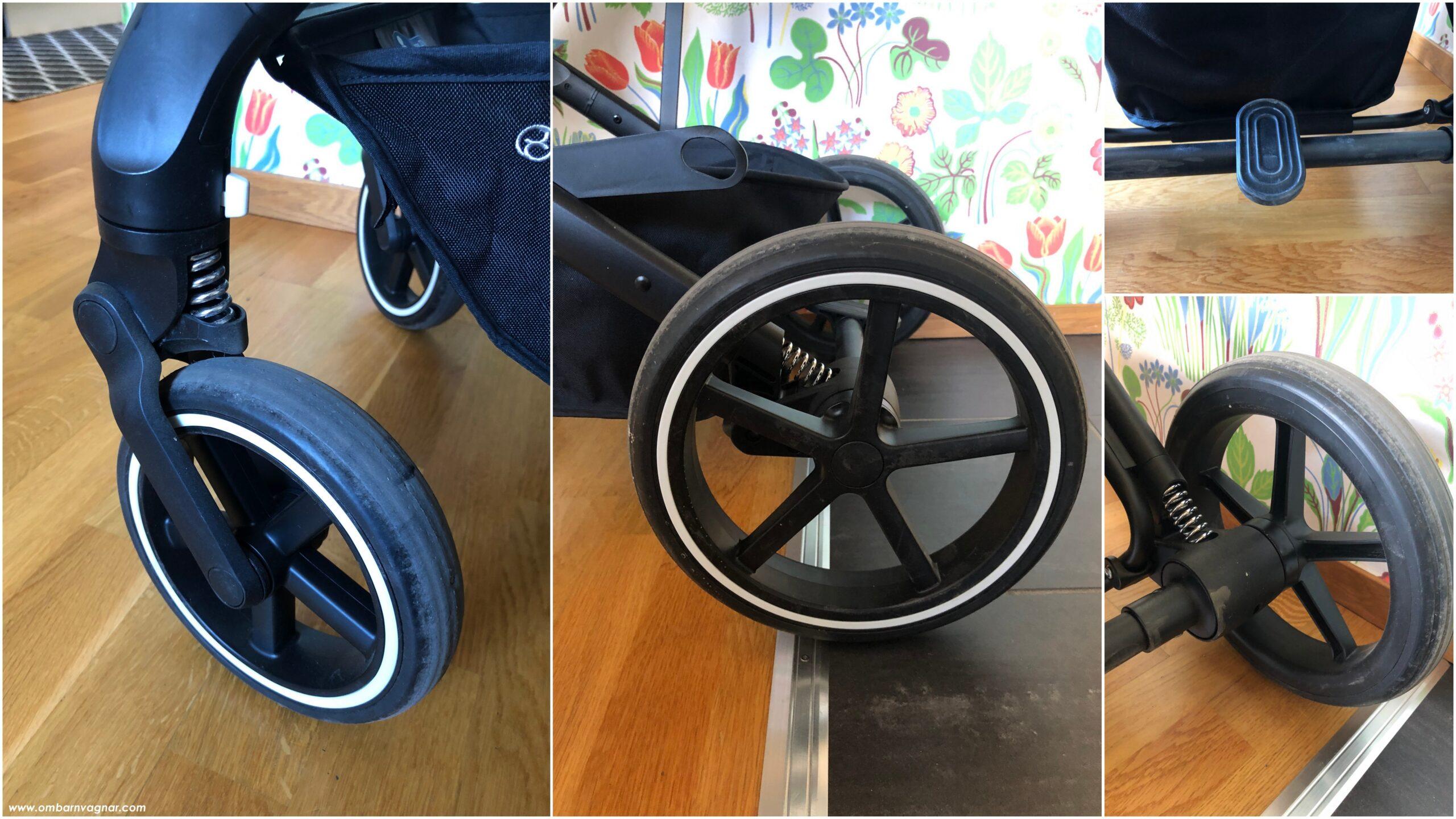 Cybex Balios S 2-in-1 har punkteringsfria däck och fjädring i chassit