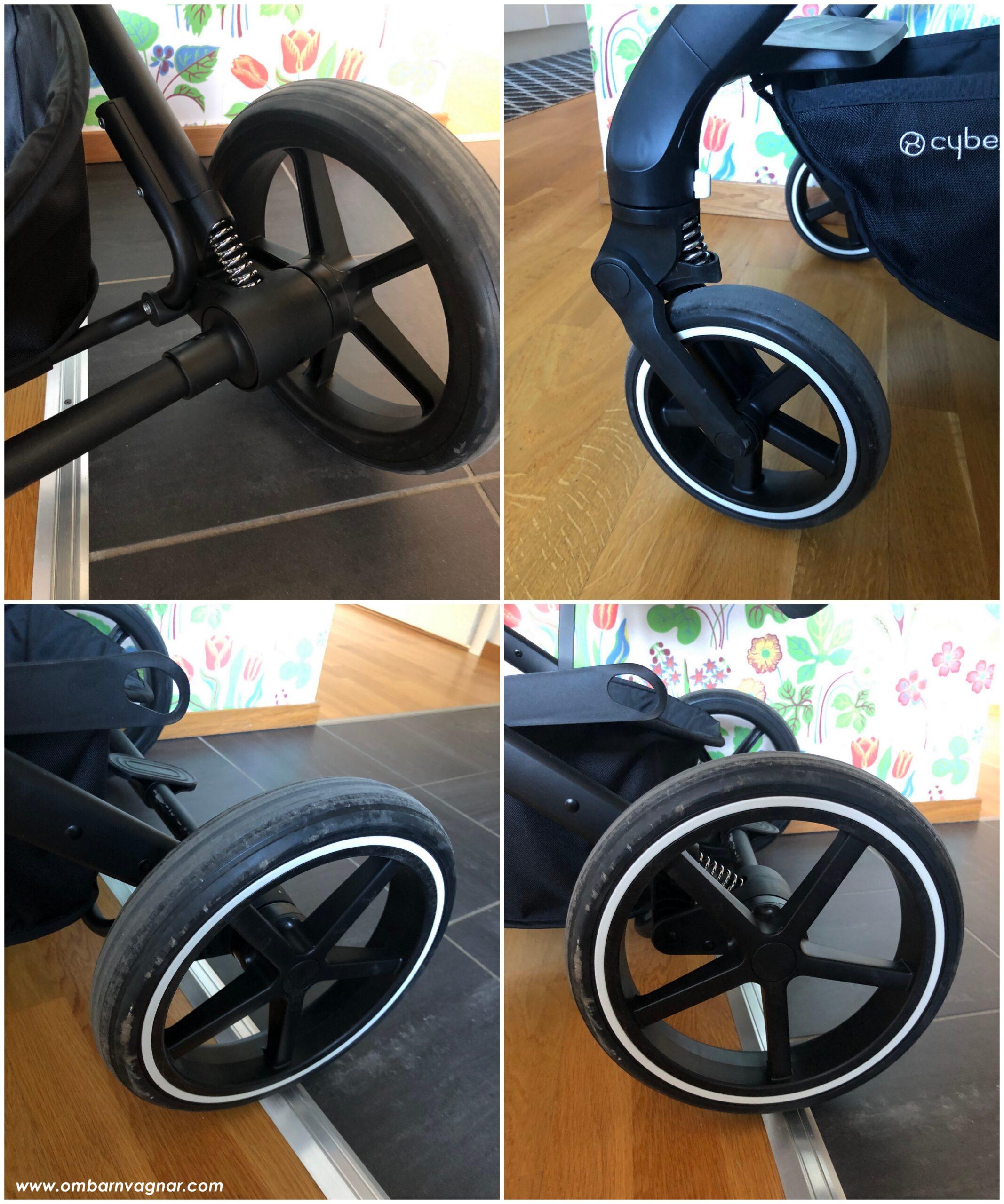 Cybex Balios S Lux har punkteringsfria hjul med fjädring