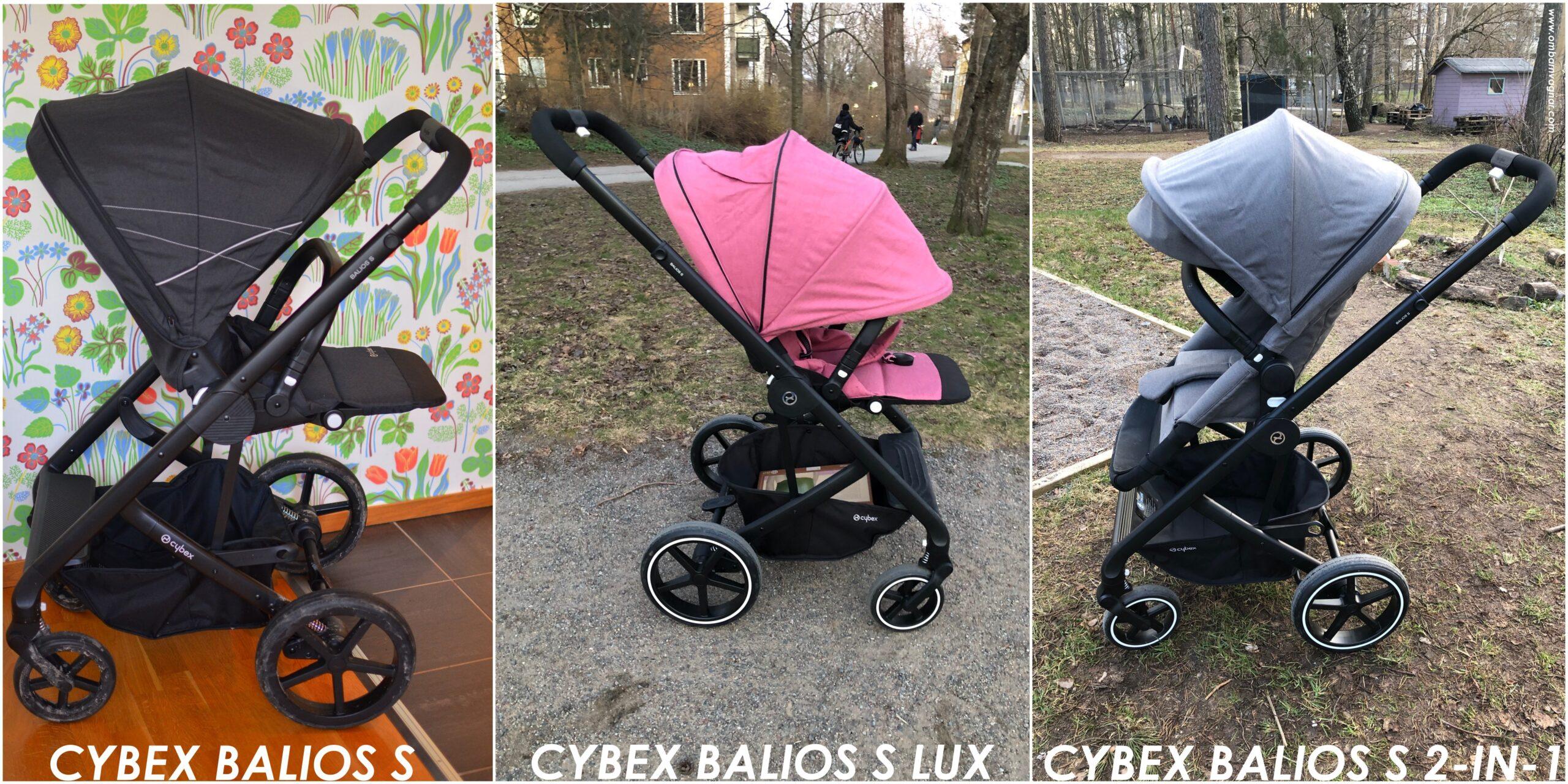 Skillnaden mellan olika versioner av Cybex Balios S