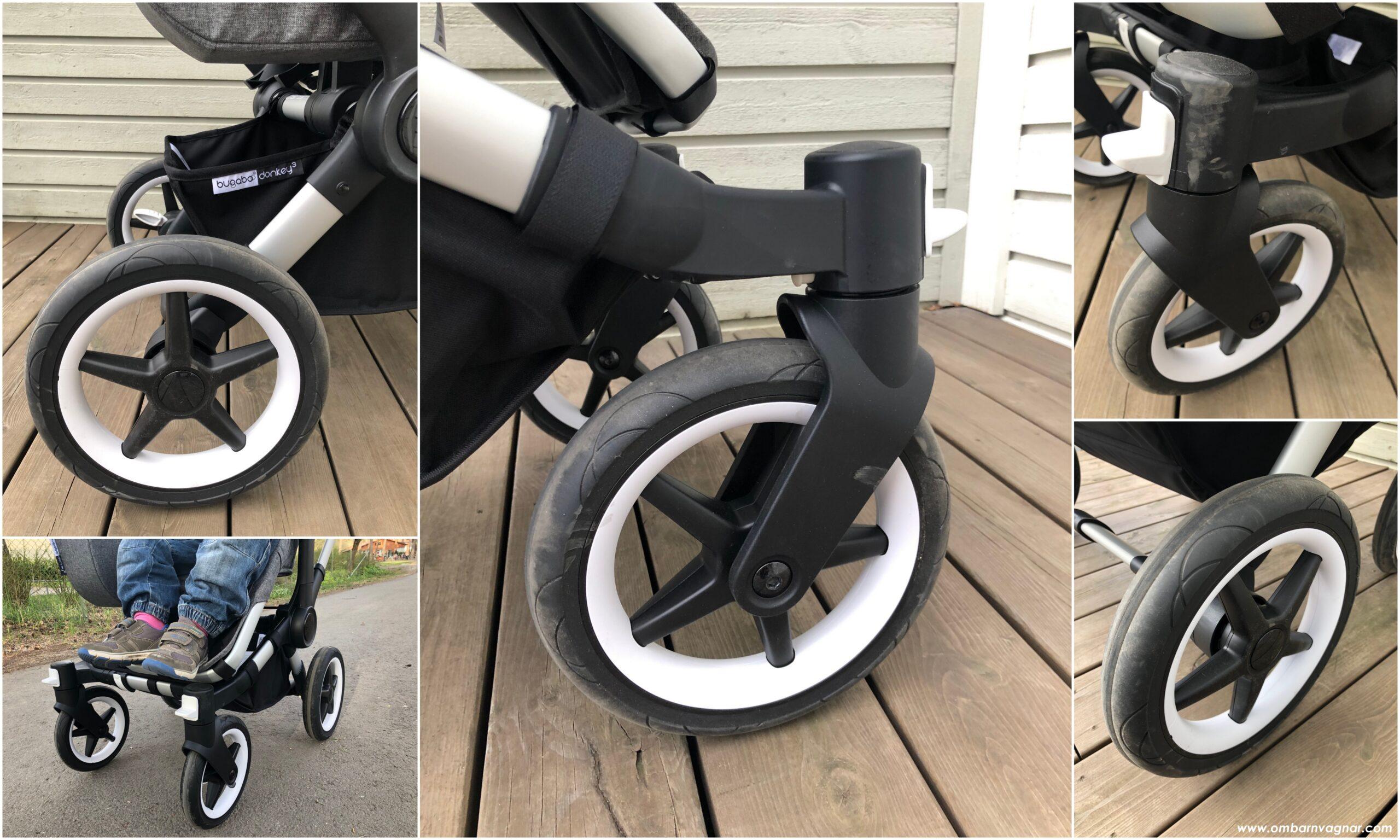 Bugaboo Donkey 3 har punkteringsfria skumdäck med ny design