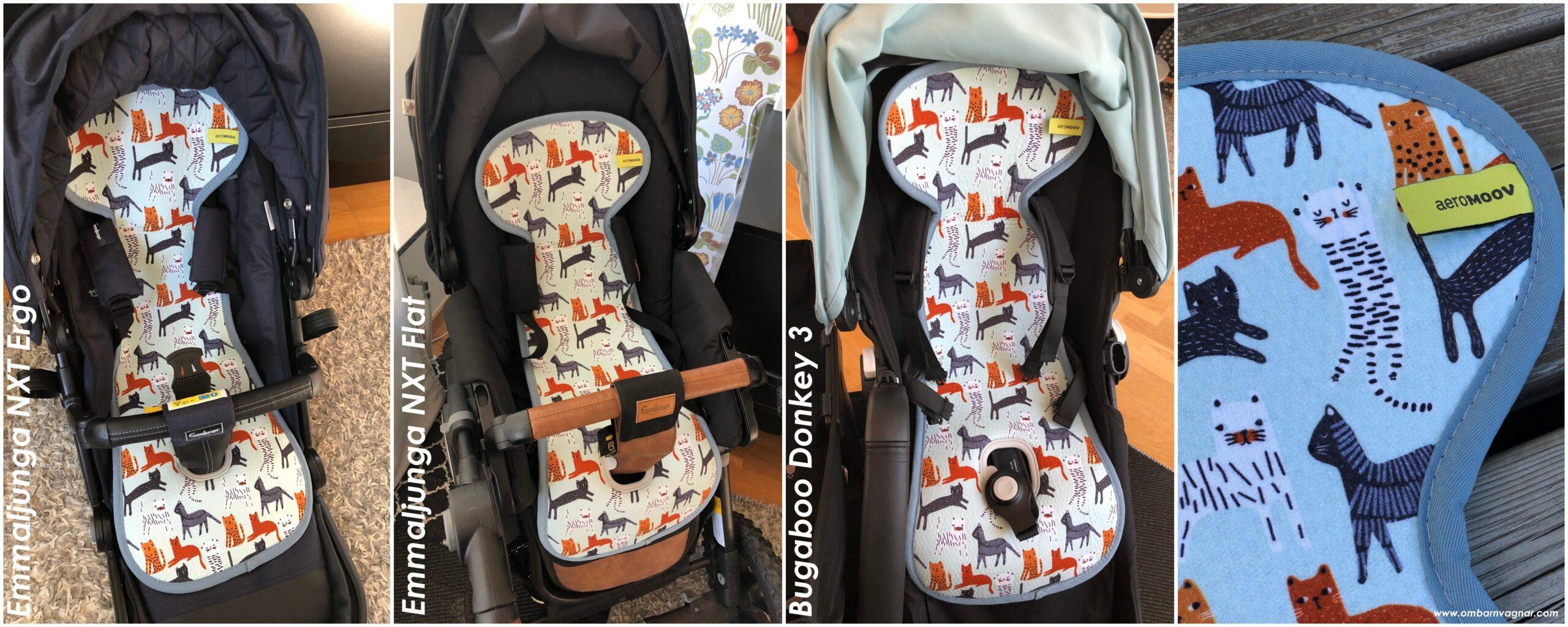 Så passar AeroMoov sittdyna för vagn i olika barnvagnar