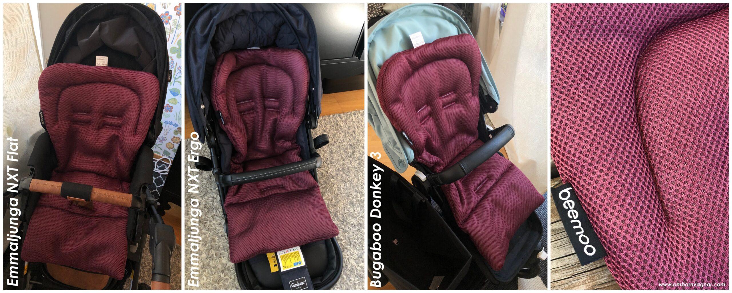 Så passar Beemoo Breeze svalkande sittdyna i olika barnvagnar