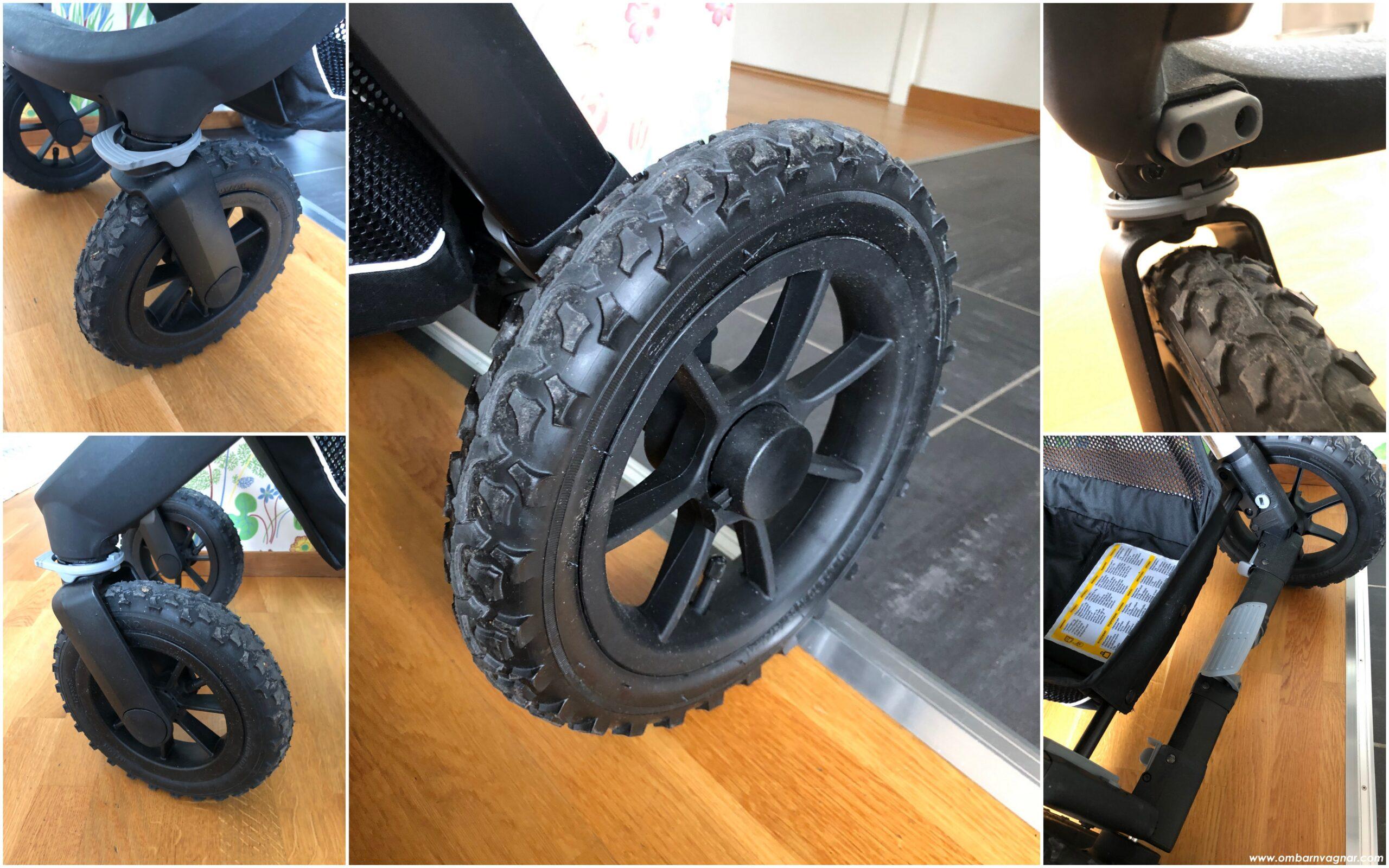 Emmaljunga NXT90 Outdoor med stora lufthjul med bra grepp för terräng