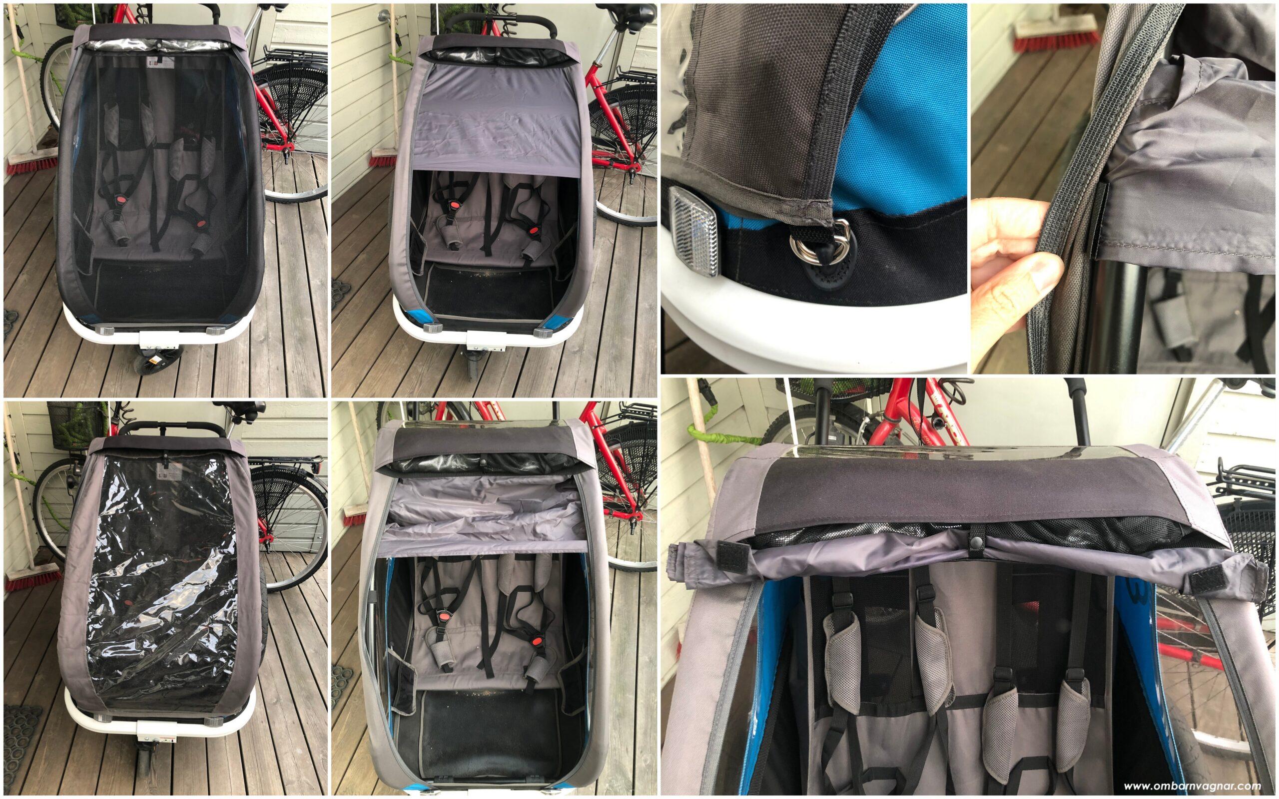 Hamax Traveller har inbyggt solskydd, nät och regnskydd