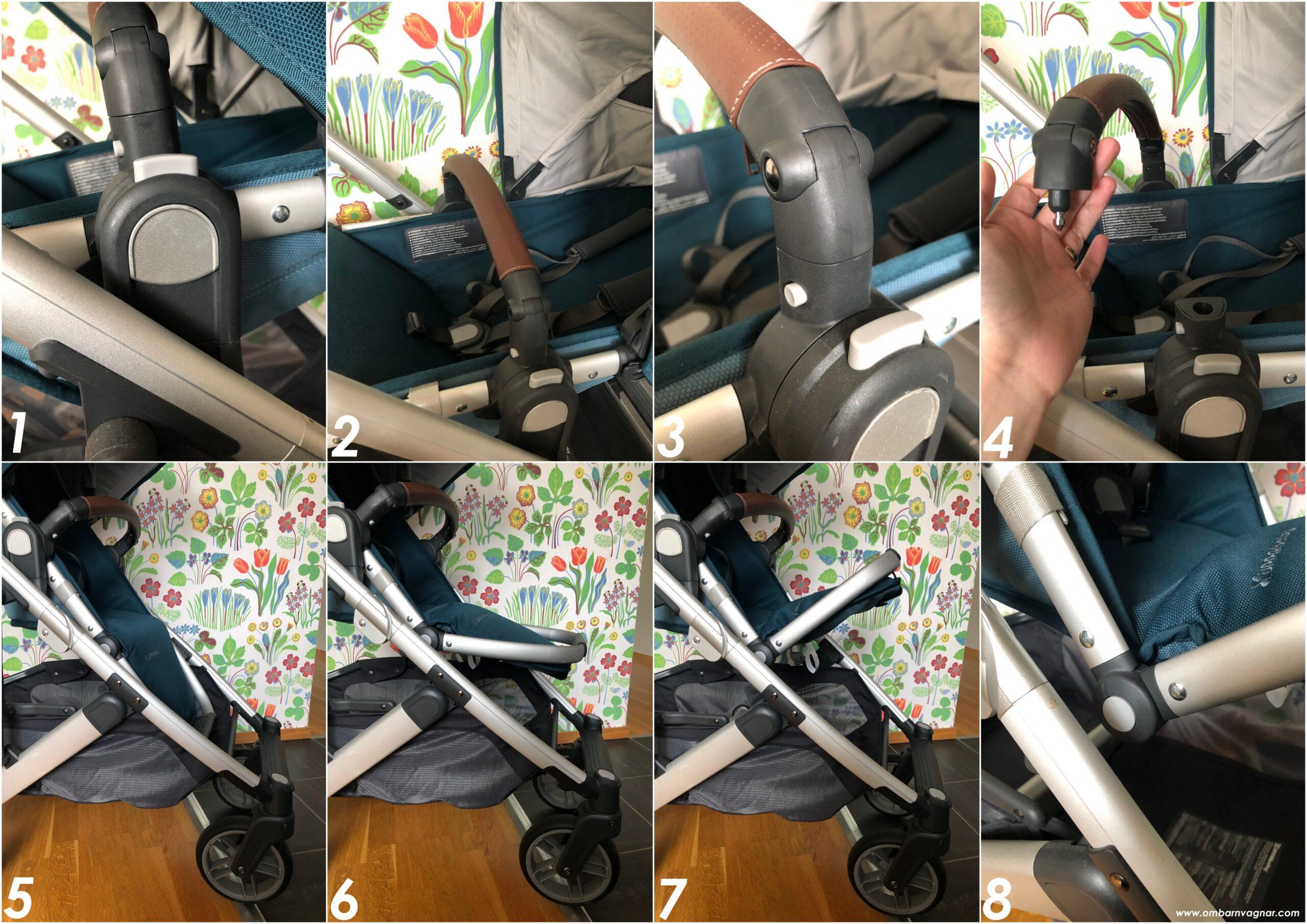 UPPAbaby Cruz V2 är utrustad med ställbart fotstöd och svängbar bygel