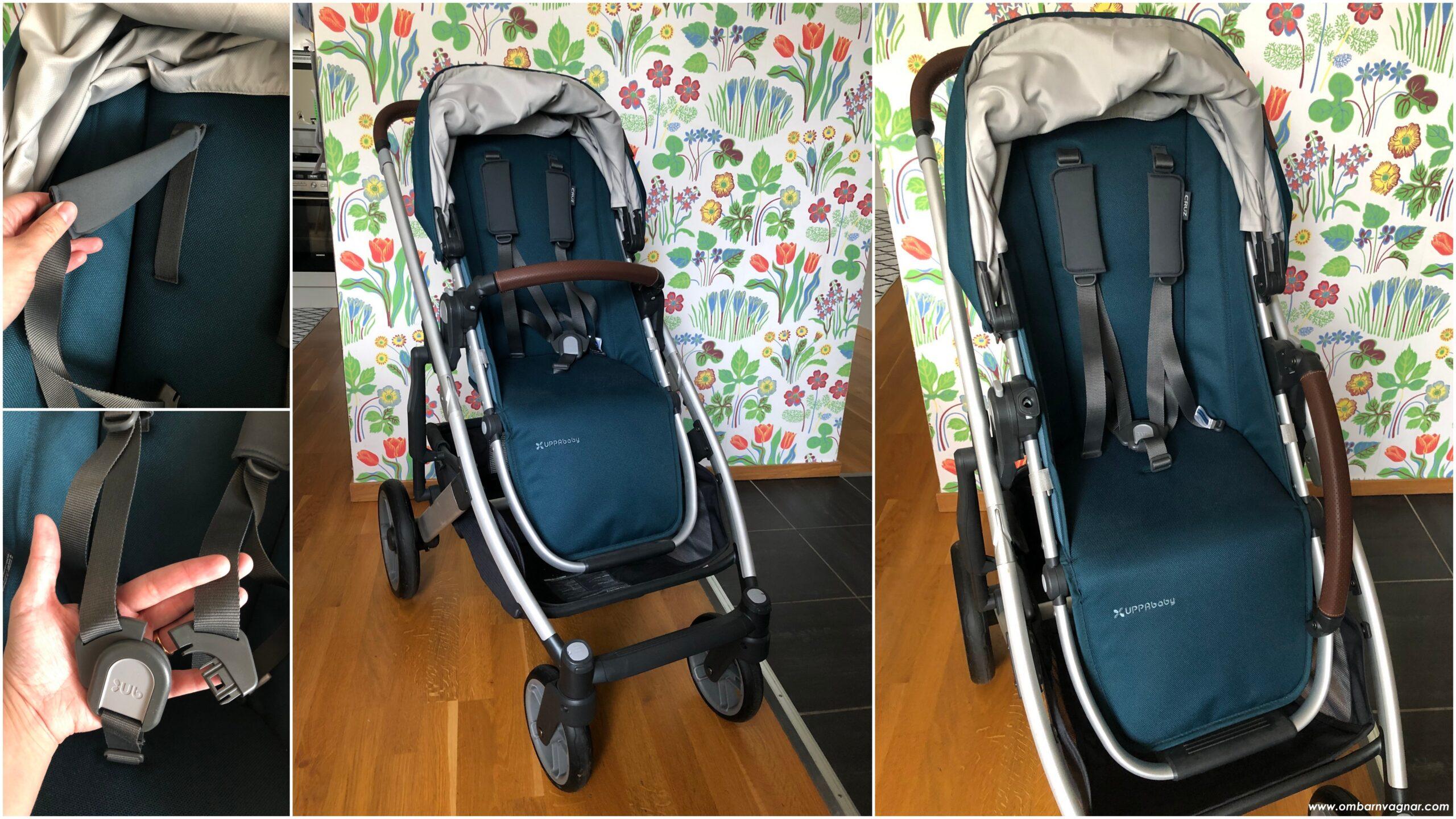 UPPAbaby Cruz V2 har en vändbar, ergonomisk sittdel