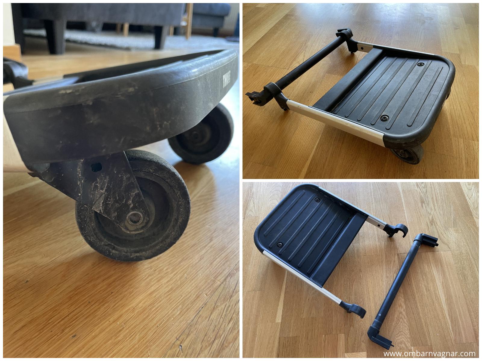 Thules ståbräda glider board med adapter för Thule Spring