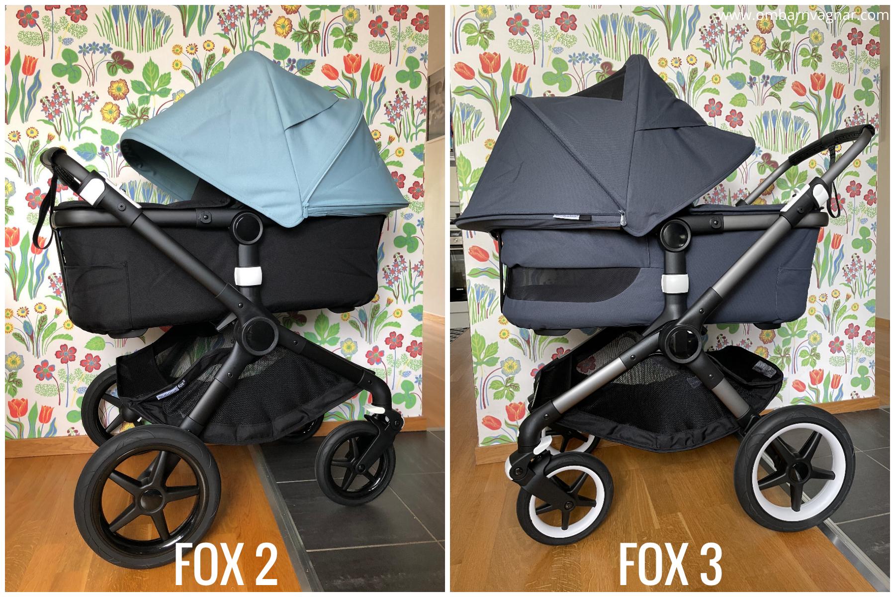 Skillnaderna mellan Bugaboo Fox 2 och Bugaboo Fox 3 - vad är nytt på Fox 3?