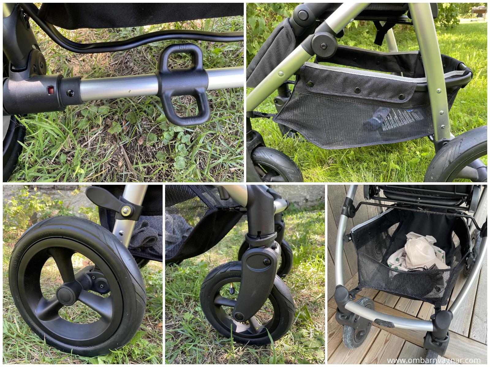 Heritage 2 med lufthjul och lättåtkomlig varukorg
