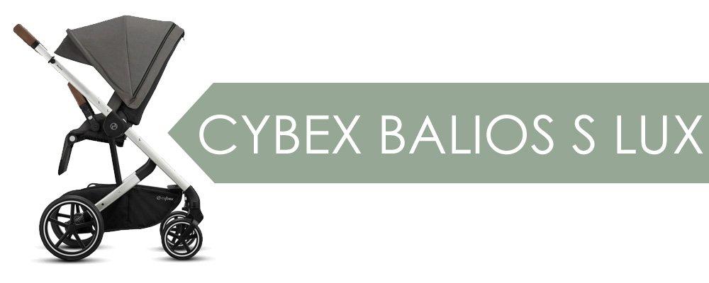 Cybex Balios S Lux - högt placerad vanlig sittdel och riktigt lång sufflett