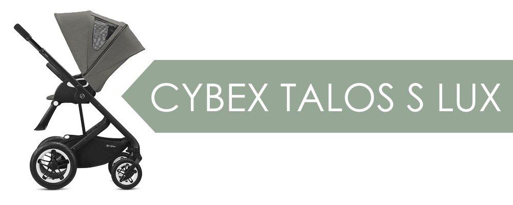 Cybex Talos S Lux - vanlig sittdel med plant liggläge och stora, foamfyllda hjul